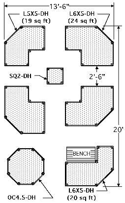 Diagram of Arranged Raised Cedar Garden Beds